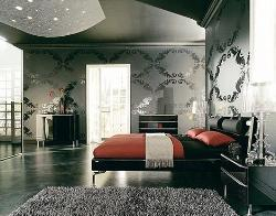 bedroom with gray interior