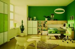 kids room ideas in green theme