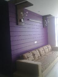 Living room wall accent design