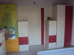 Wardrobe and cupboard design for kids room