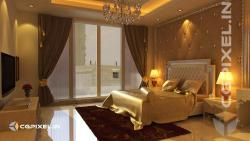 3D VIEW ROYAL BEDROOM  CGPIXEL.IN