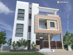 3D VIEW EXTERIOR IN KOTA