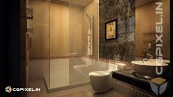 3D VIEW BATHROOM KOTA