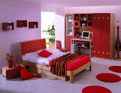 Bedroom with Energetic Color