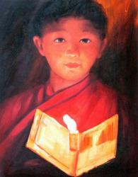 oil on canvas buddhism