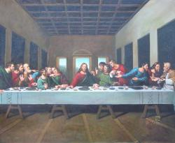 oil on canvas The last supper