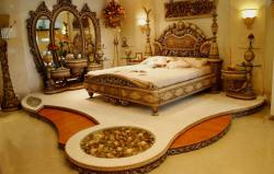 Extra rich designer bedroom concept floor