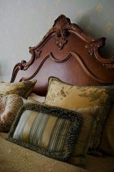 decorative wooden headboard for bed