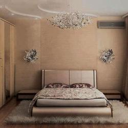 bedroom interior in light shade paint