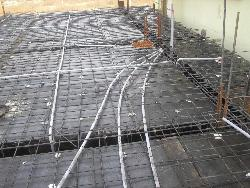 Conduiting inside slab