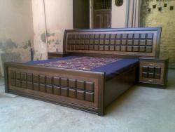 Custom made bed with side tables
