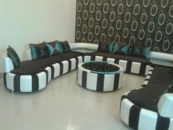 Custom sofa set designed for a living room
