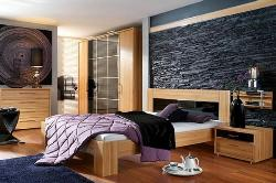Bedroom design with Dark Wall