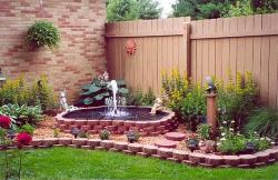 Outdoor design using Fountains