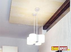 False Ceiling with Lighting Pendants