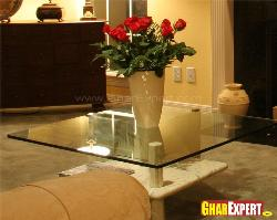 Center Table Design with Glass Top
