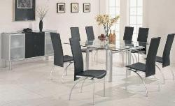 Simple Glass Top Dining Table