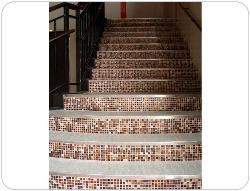 Internal Stairs with Glass tile