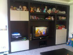 LCD TV cabinet with storage space