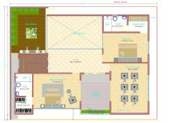 GF & FF House Plan 3037sq ft (Plot Size 2409sqft)
