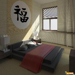 Bedroom with Wall Decor