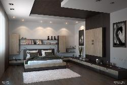 Bedroom Ceiling design and wall lighting design