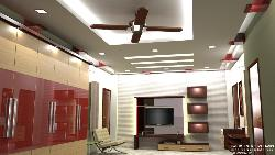 Modern interior designing and decoration with lighting