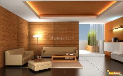 Modern Sofa with Ceiling Lights