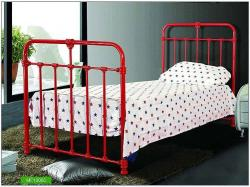 Iron framed Kids room bed in red