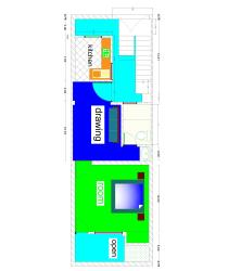 15foot x45 foot a small house plan