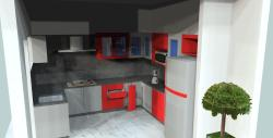 Kitchen style showed in 3D