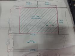 Plot size 57x40 feet with south facing