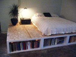 Bookcase in Bed