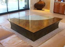 Bronze and Glass Center table