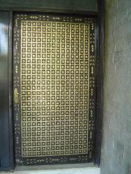 Ultra traditional brass door