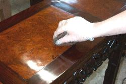 French polish application