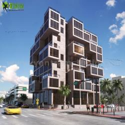 Modern Exterior Building Design Ideas by architectural rendering service Brussels