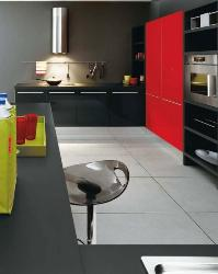 Red and Black Kitchen design 2