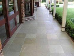 Kota brown stone flooring in porch
