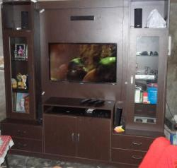 LED TV with home theater cabinet