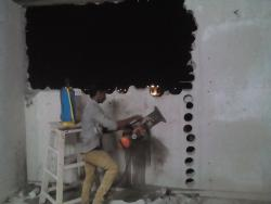 concrete wall cutting using core cutting machine-9841125344