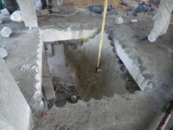 Concrete roof slab cutting work without vibration