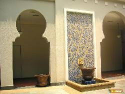 Wall Pattern with Fountain Design