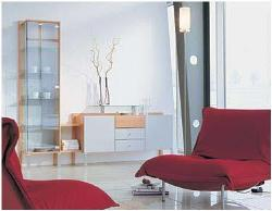 Blend of bright and sobber colors in Living Room