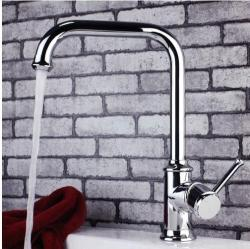 bathroom faucet chrome with running water