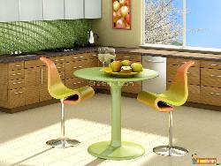 Sitting Arrangement in Modern Kitchen