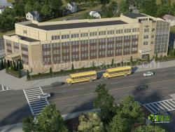 3D Exterior Rendering Education Academy