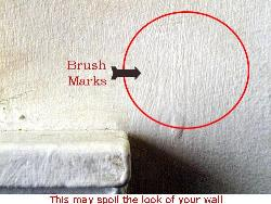Brush marks on wall - bad practice