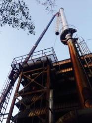 old industrial mild steel chimney repairing work