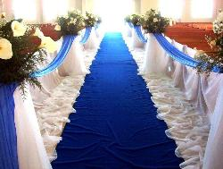 Another aisle design in a wedding area